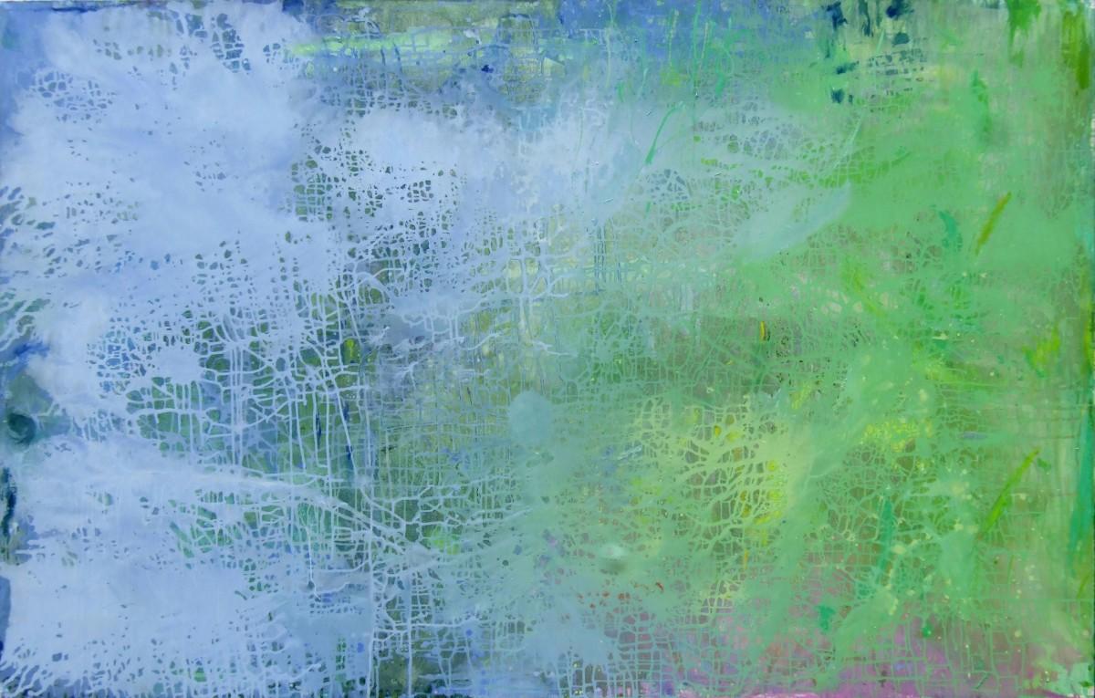Bourrasque, 2007, 162x262cm, acrylique et huile sur toile