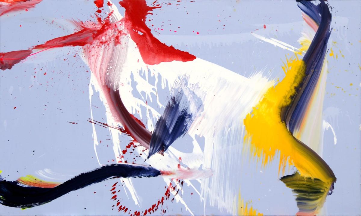 Collision, 2012, médium et pigment sur toile, 162 x 97 cm