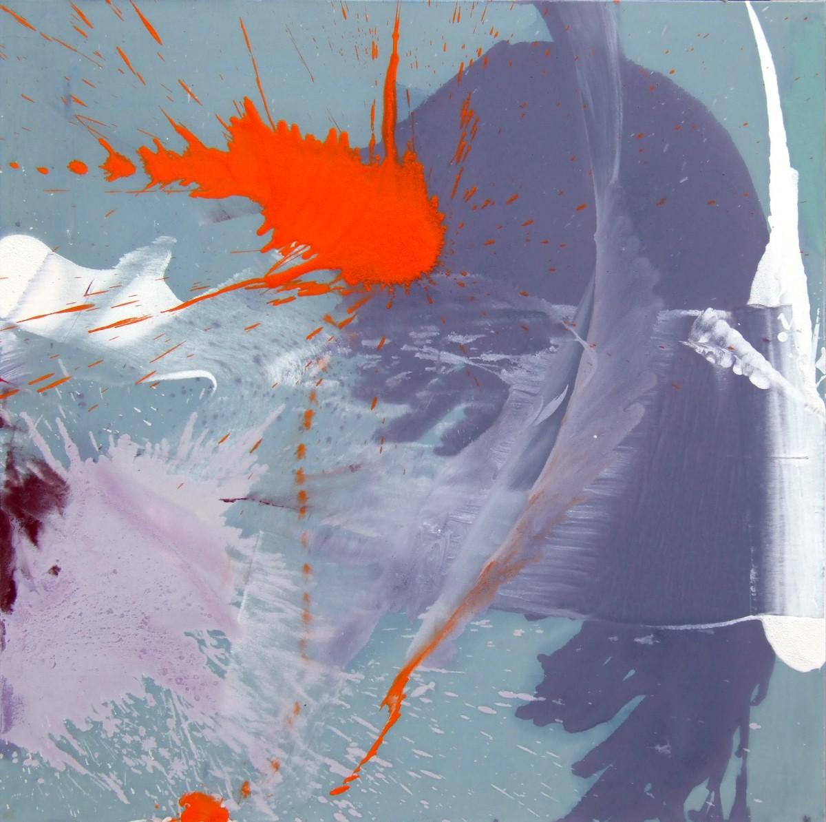 Impact, 2009,  acrylique sur toile, 130 x130 cm