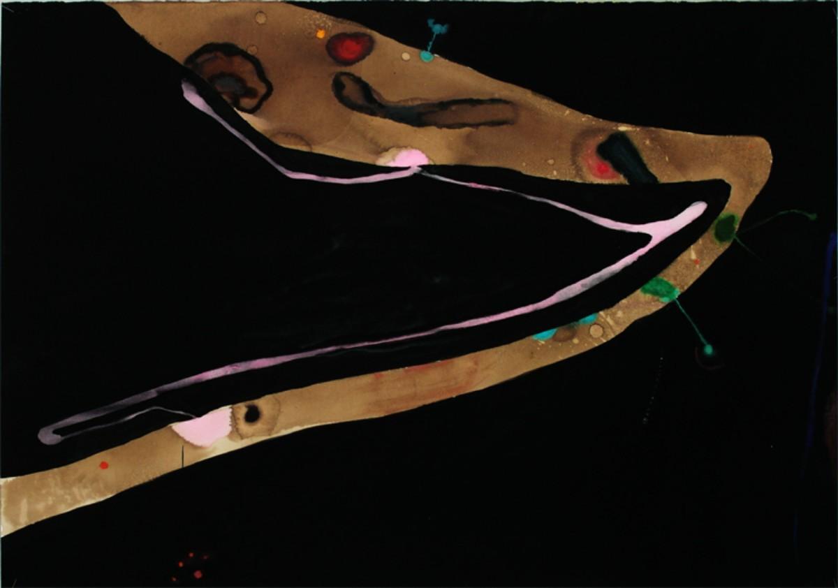 Demeure souterraine, 2003, 70x 100cm, gouache sur papier