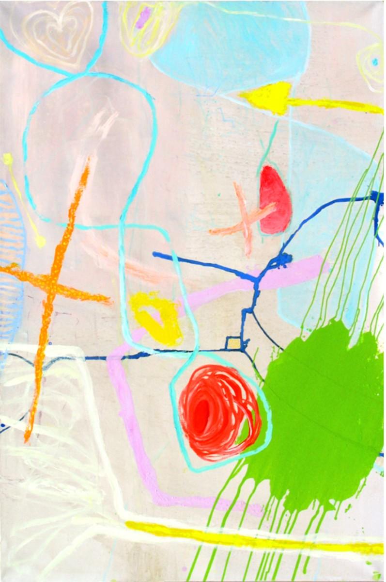 Barbe à papa, 2002, acrylique sur toile, 195x130 cm