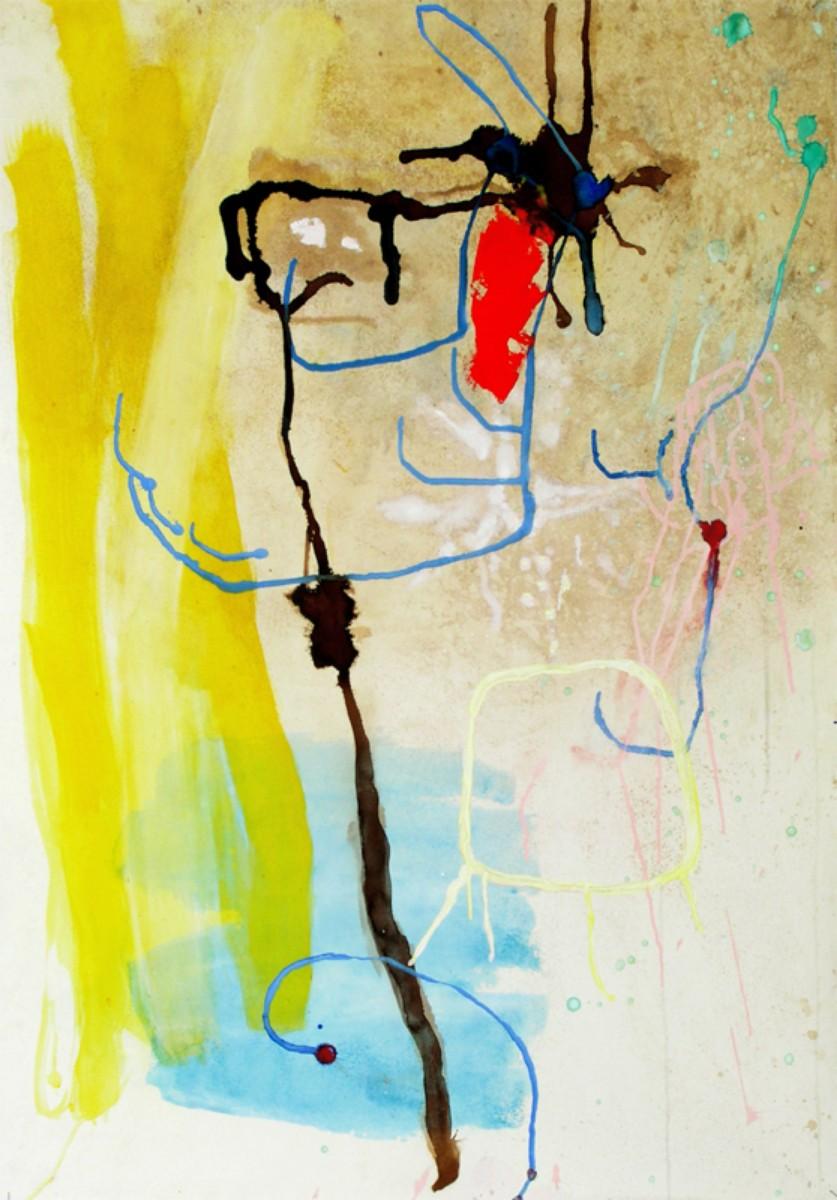 Ballet de libellules, 2002, 70x100 cm, gouache sur papier
