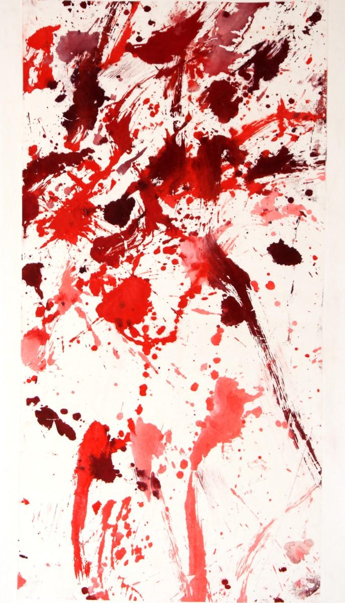 Apassionata, panneau seul), 2012, gouache sur papier de riz marouflé sur papier et toile,89 x146 cm