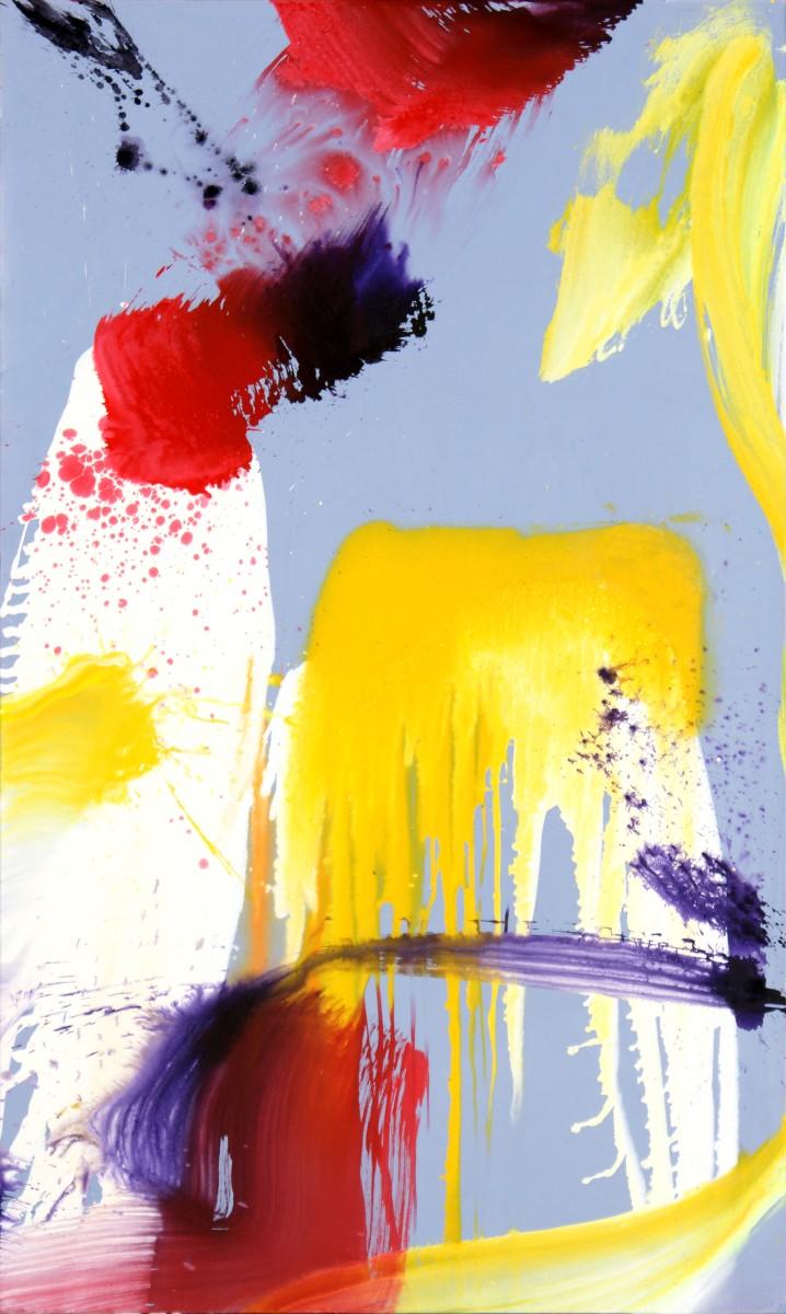 Sans titre, 2012, médium et pigment sur toile, 162 x 97 cm