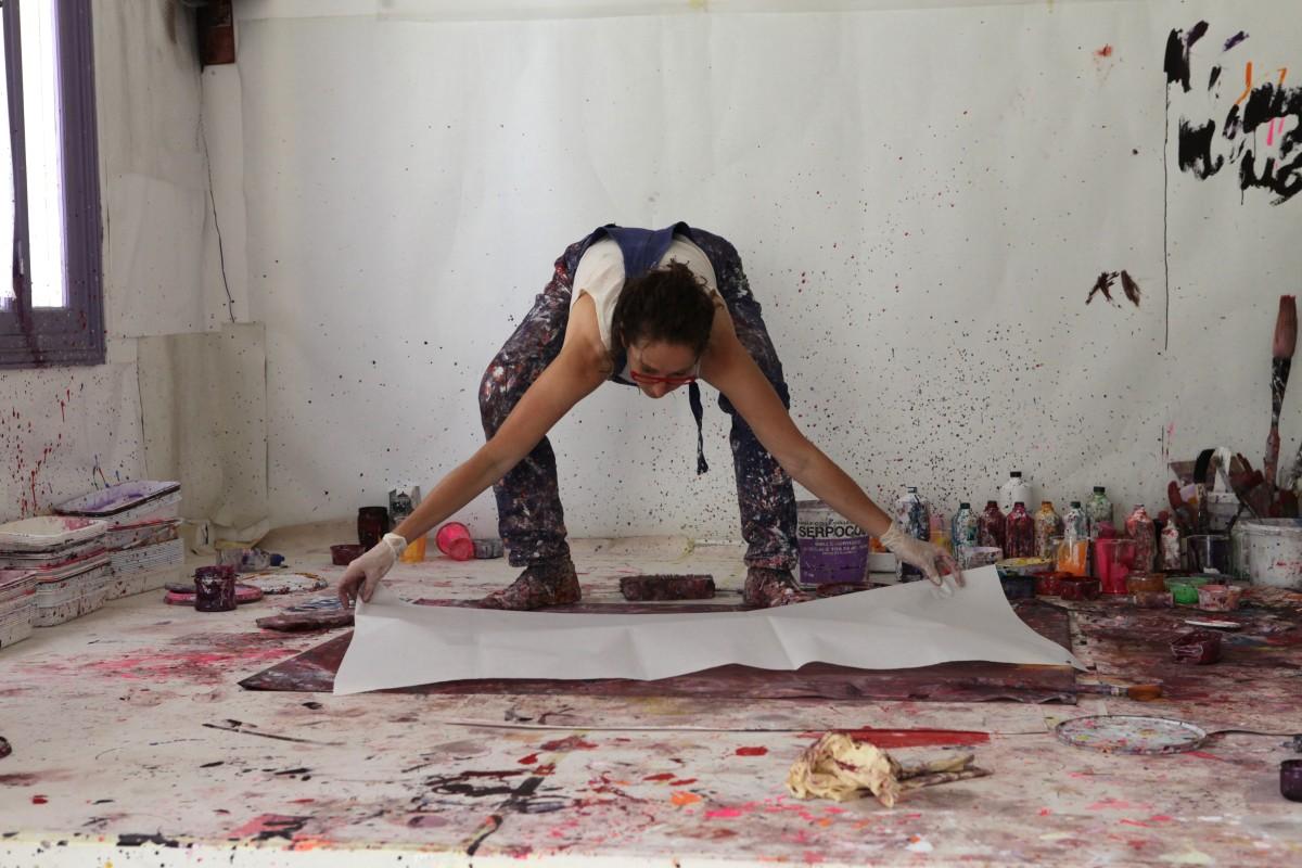 Dépose papier atelier sur palette