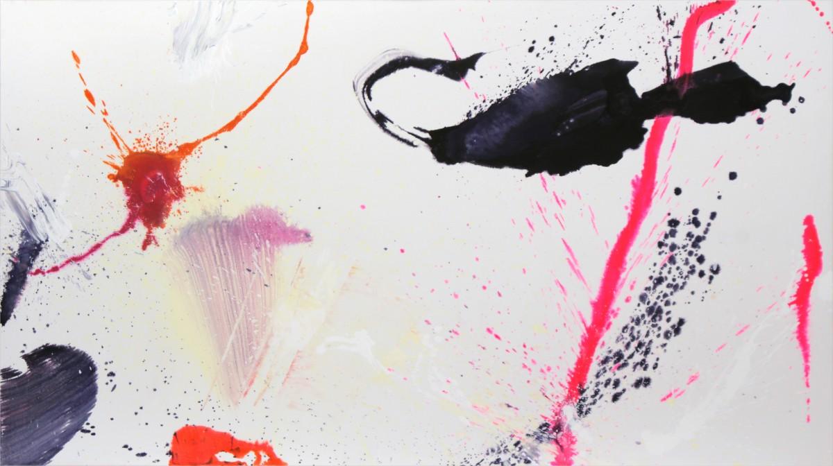 é-barissement, 2010, médium et pigment sur toile, 150 x 267 cm