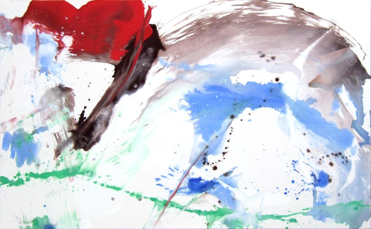 Elan, 2008, 160x260 cm, acrylique sur toile