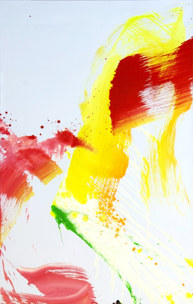 En attente de titre , 2012, 195x114 cm, technique mixte sur toile