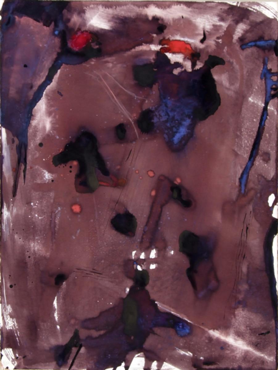 Sortilège,2007, 57x76 cm gouache et teinte acajou sur papier