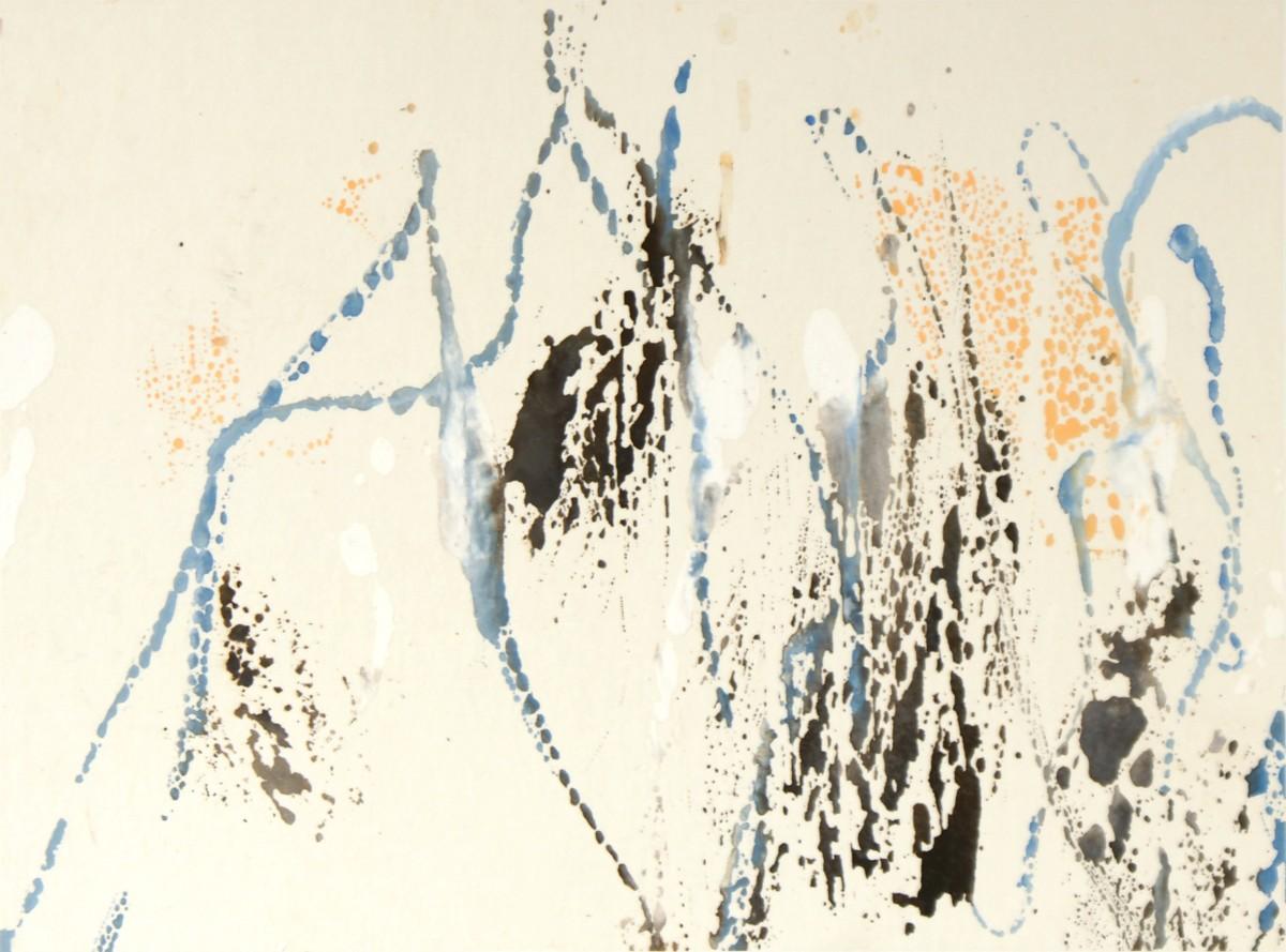 Ballade, 2010, 24 x33 cm, encre et gouache sur papier chine marouflé sur carton