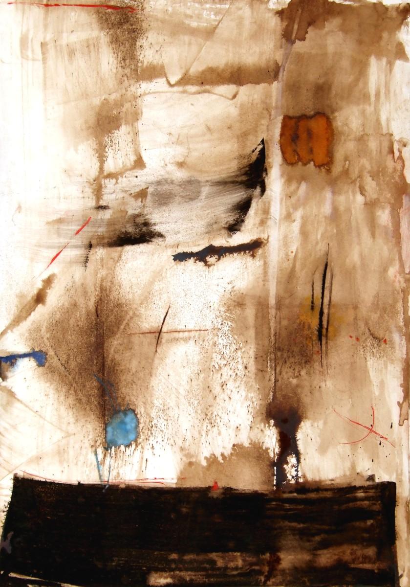 Les huits vents, 2006, broux de noix et gouache sur papier