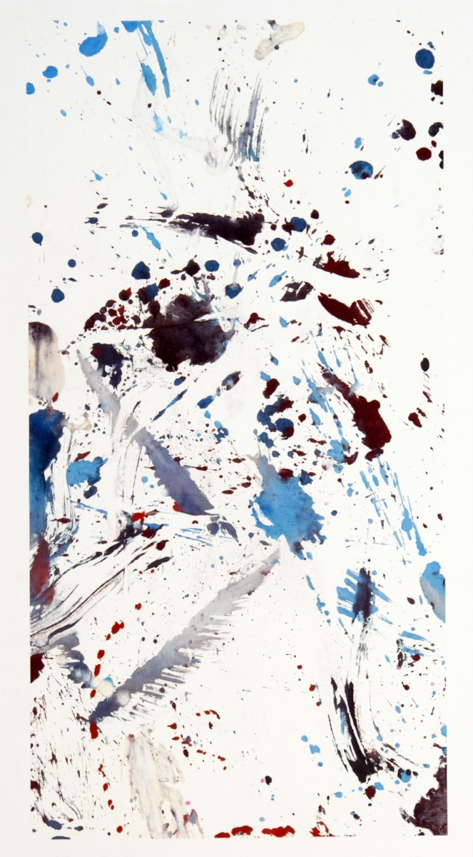 Suite envol 3, gouache sur papier de riz marouflé sur papier et toile, 144 x177 cm