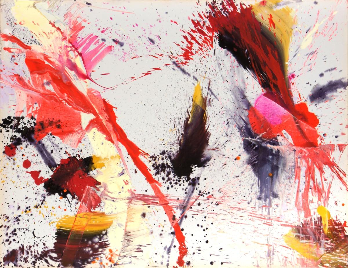automne  2010  150 x 197 cm  m u00e9dium et pigment sur toile